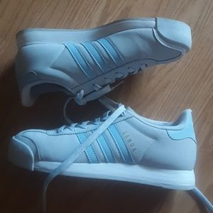 Adidas grey and blue samoa tennis shoes 6.5
